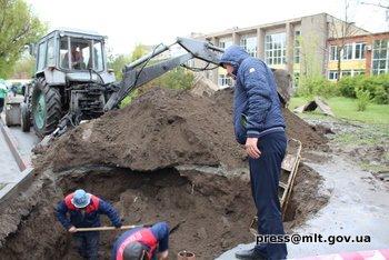 В Мелитопольской спортшколе идет ремонт, фото-1