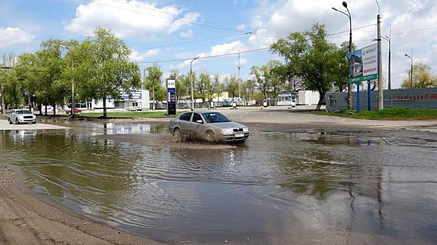 """Водой из огромной лужи на ул.Флотской решили затопить поселок """"Бригантина"""" (ФОТО), фото-5"""