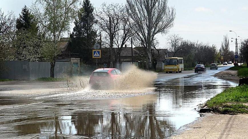 """Водой из огромной лужи на ул.Флотской решили затопить поселок """"Бригантина"""" (ФОТО), фото-4"""