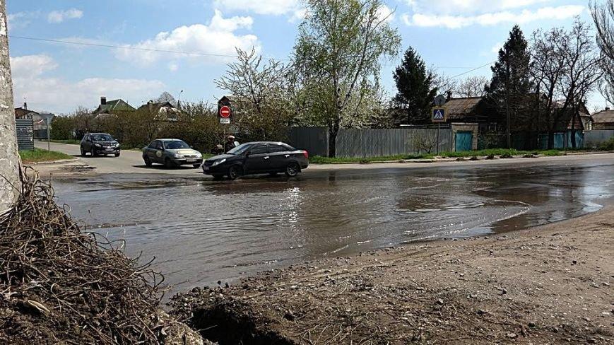 """Водой из огромной лужи на ул.Флотской решили затопить поселок """"Бригантина"""" (ФОТО), фото-3"""