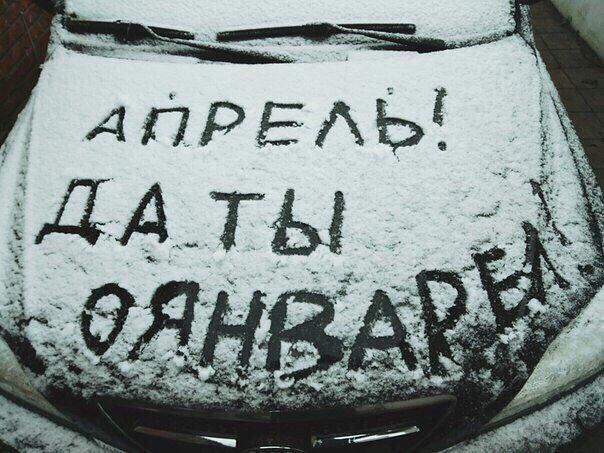 Крымчане в соцсетях хвастают апрельскими снеговиками (ФОТОФАКТ), фото-8