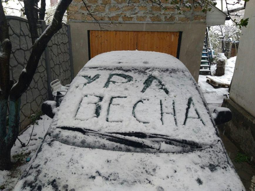 Крымчане в соцсетях хвастают апрельскими снеговиками (ФОТОФАКТ), фото-7