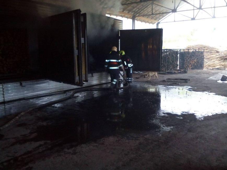 У Перечині на підприємстві сталась пожежа: фото, фото-1