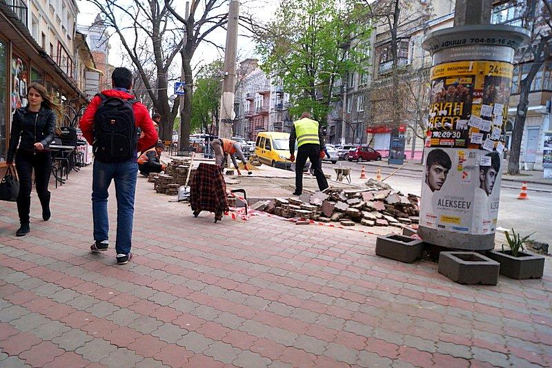 В центре Одессы шаурма «захватила» тротуар (ФОТО), фото-1