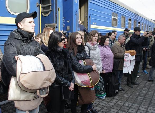 Бахмут во второй раз встретил «Поезд Единения Украины «Трухановская Сечь» (ФОТО), фото-2