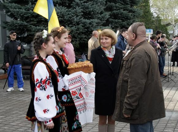 Бахмут во второй раз встретил «Поезд Единения Украины «Трухановская Сечь» (ФОТО), фото-4
