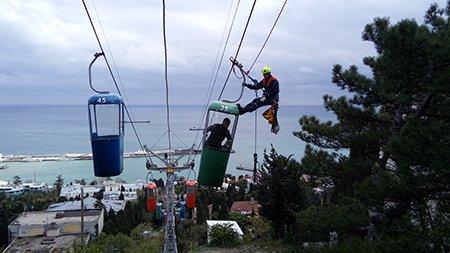 В Крыму с канатной дороги сняли мужчину (ФОТОФАКТ), фото-4