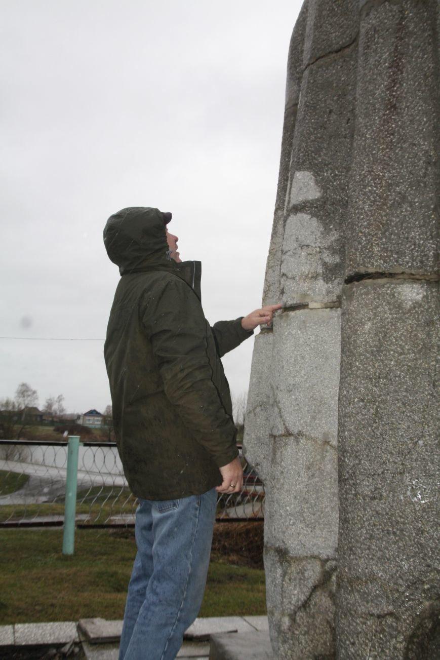 В Загоскине разрушается памятник воину-освободителю, фото-2