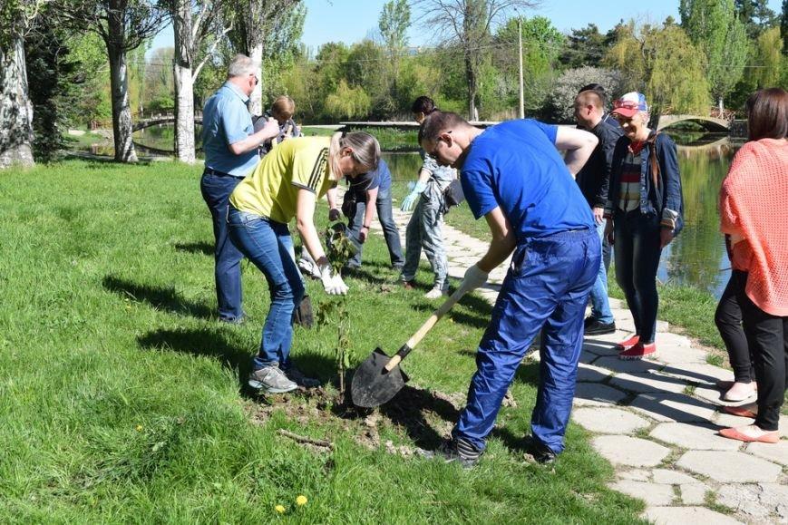В Симферопольском парке имени Гагарина провели субботник и высадили деревья (ФОТО), фото-3