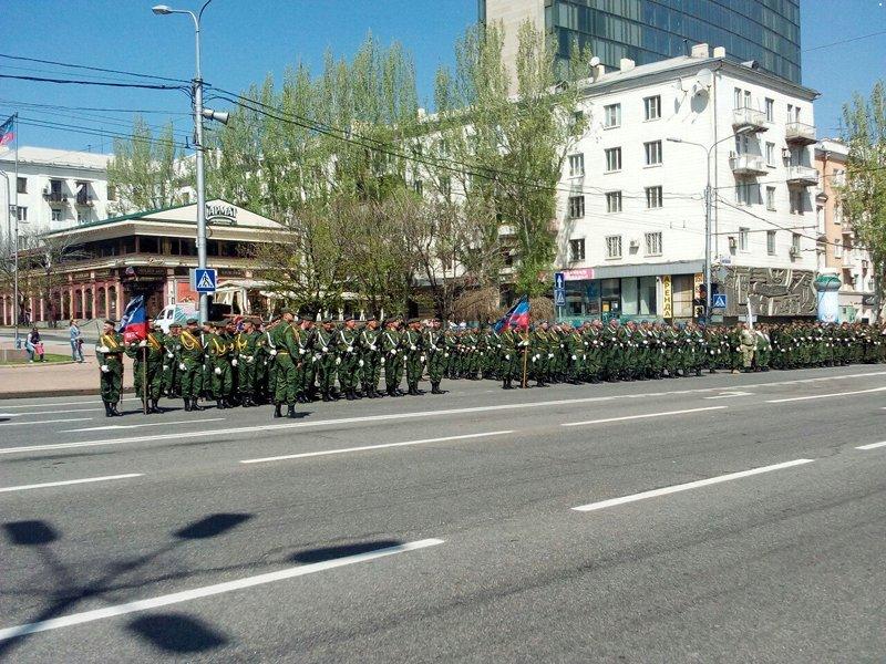 В Донецке прошла первая репетиция парада боевиков «ДНР» (ФОТО, ВИДЕО), фото-1