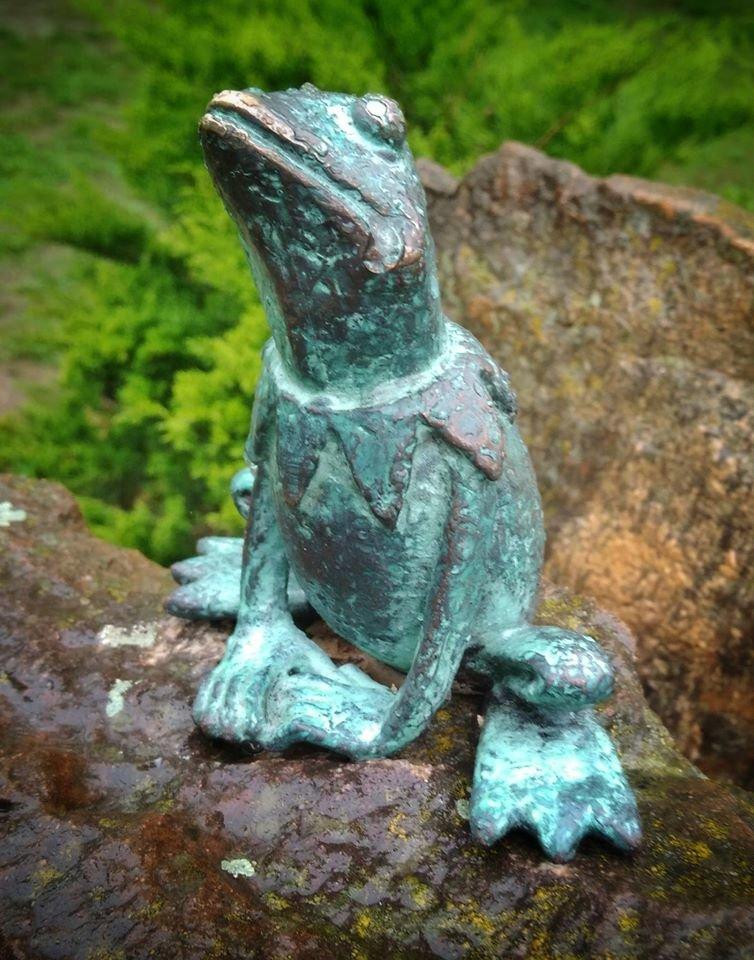 У Перечині встановили першу міні-скульптуру - Жабу: фото, фото-3