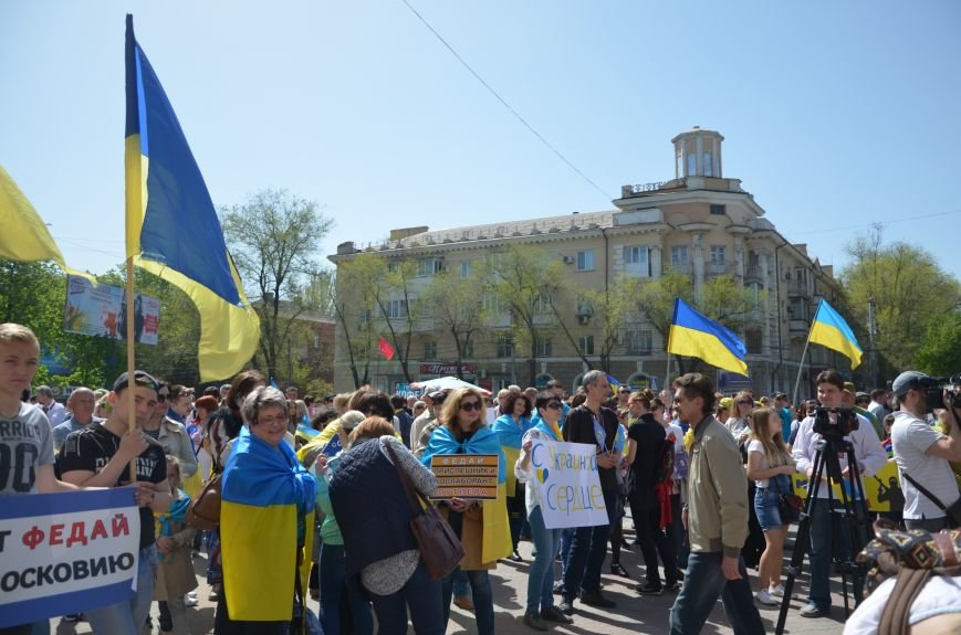 """""""Мариуполь - это Украина!"""" Жители города на митинге заявили, что свободно говорят на русском языке (ФОТО+ВИДЕО 360°), фото-7"""