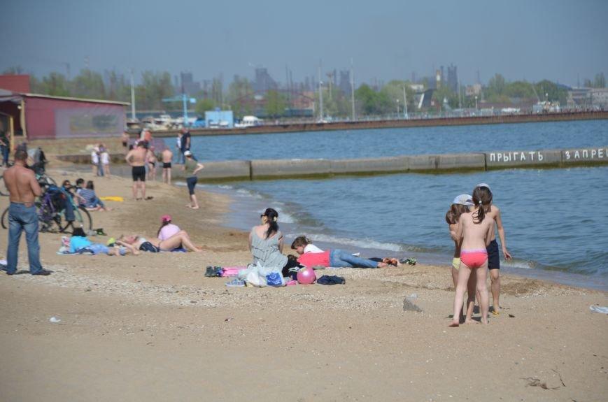 Мариупольцы преждевременно открыли пляжный сезон (ФОТО+ВИДЕО), фото-6