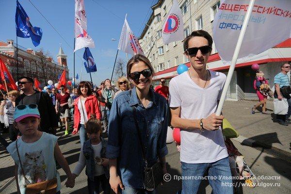Тысячи ульяновцев вышли на парад 1 мая. ФОТО, фото-4