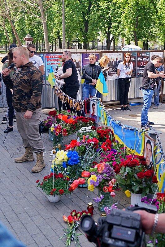 Патриоты почтили память первых погибших 2 мая в Одессе (ВИДЕО, ФОТО), фото-11
