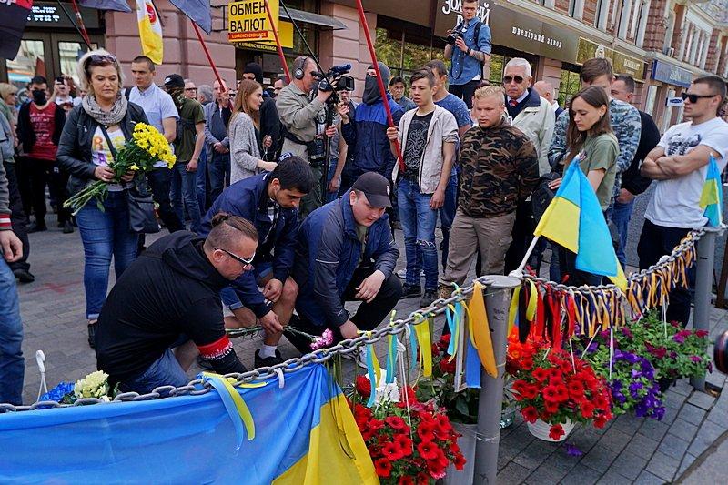 Патриоты почтили память первых погибших 2 мая в Одессе (ВИДЕО, ФОТО), фото-7