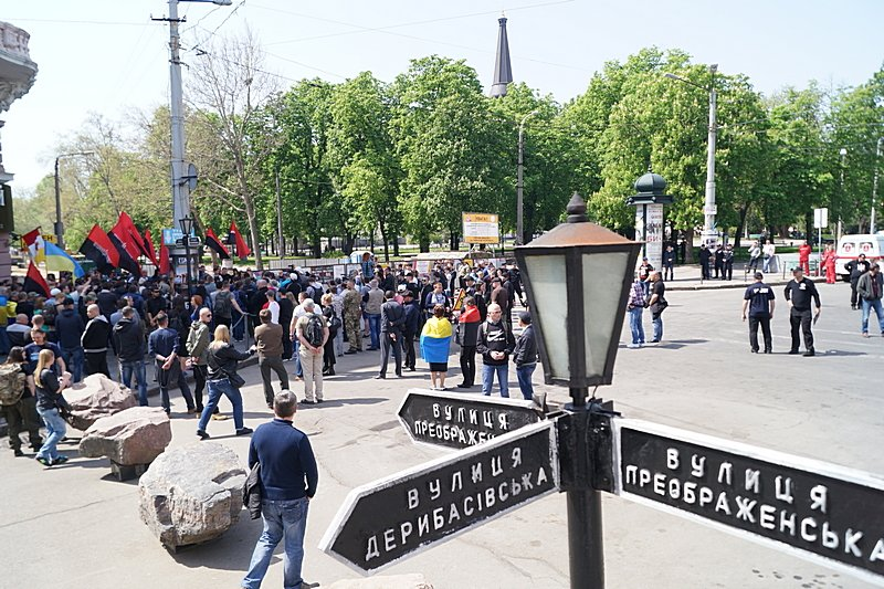Патриоты почтили память первых погибших 2 мая в Одессе (ВИДЕО, ФОТО), фото-5