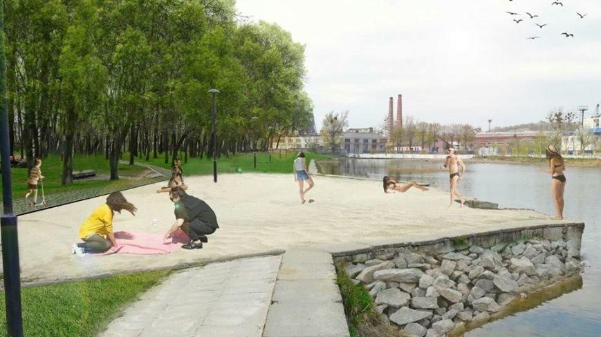 На території Левандівського озера хочуть зробити міський пляж: візуалізація, фото-1