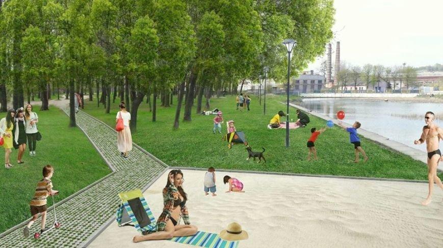 На території Левандівського озера хочуть зробити міський пляж: візуалізація, фото-2