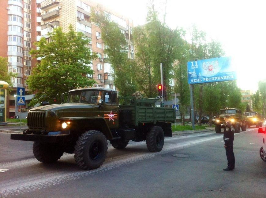 Боевики «ДНР» провели в Донецке репетицию парада с участием военной техники (ФОТО, ВИДЕО), фото-7