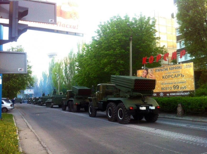 Боевики «ДНР» провели в Донецке репетицию парада с участием военной техники (ФОТО, ВИДЕО), фото-5