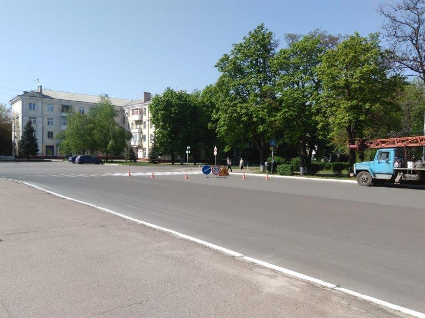 На краматорские дороги начали наносить разметку, фото-1
