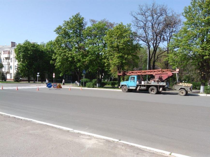На краматорские дороги начали наносить разметку, фото-2