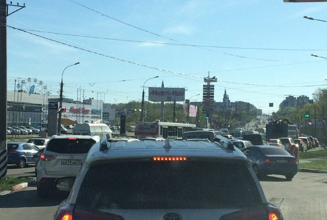Причиной пробки в Ульяновске стали две аварии. ФОТО, фото-2