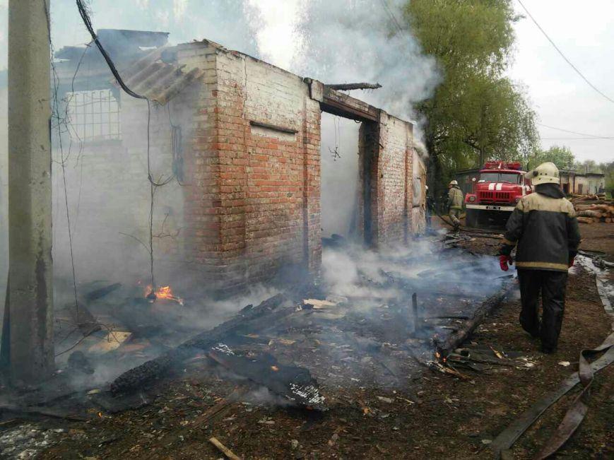 На Черниговщине сгорел столярный цех, фото-1
