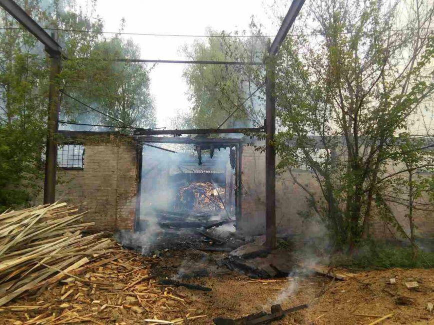 На Черниговщине сгорел столярный цех, фото-4