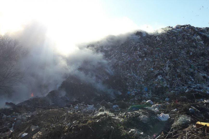Под Харьковом горела свалка с бытовыми отходами (ФОТО), фото-1