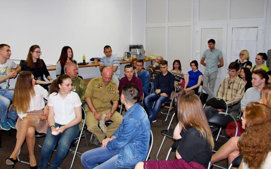 В Покровске студенты встретились с участниками АТО и ветеранами войны, фото-2