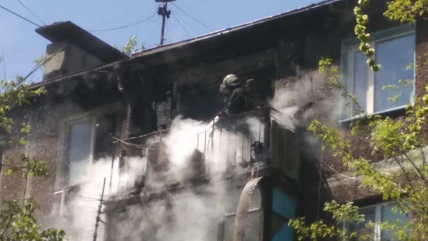 В Мариуполе сгорел балкон и часть квартиры (ФОТО), фото-4