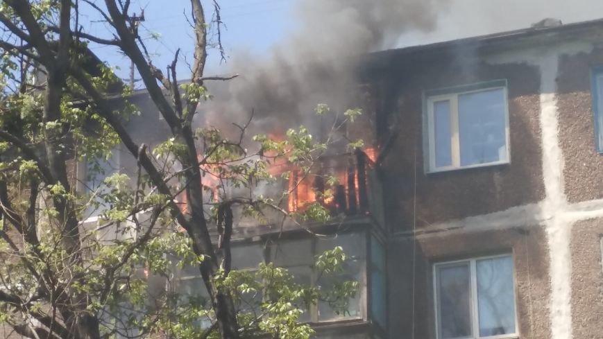 В Мариуполе сгорел балкон и часть квартиры (ФОТО), фото-1
