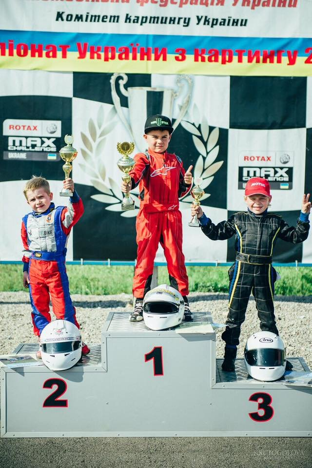 Сын актера «Дизель Студио» победил в первом этапе Чемпионата Украины по картингу в Каменском, фото-1
