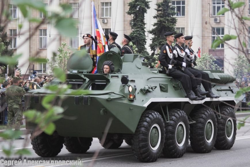 В Донецке боевики «ДНР» провели парад с участием бронетехники (ФОТО), фото-4