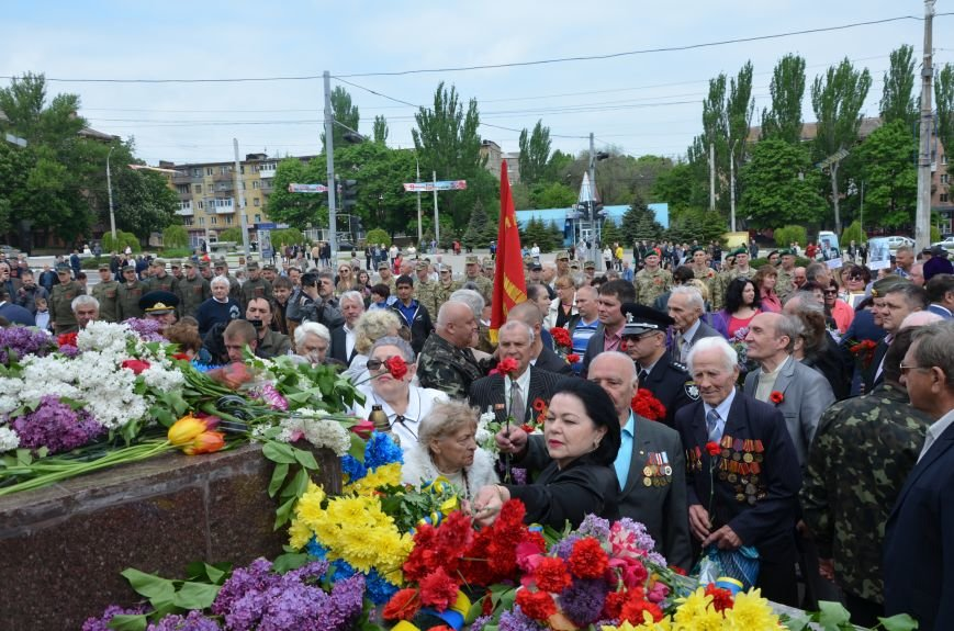 Мариупольцы празднуют День Победы (ФОТОРЕПОРТАЖ+ВИДЕО), фото-16