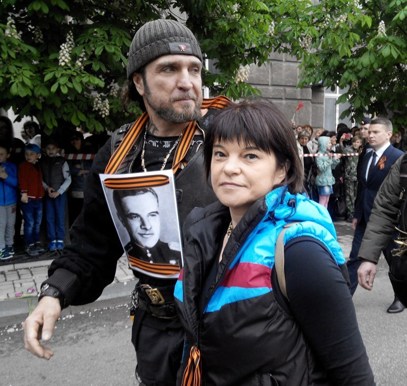 В Донецке в акции «Бессмертный полк» принял участие любимый байкер Путина Хирург (ФОТОФАКТ), фото-1