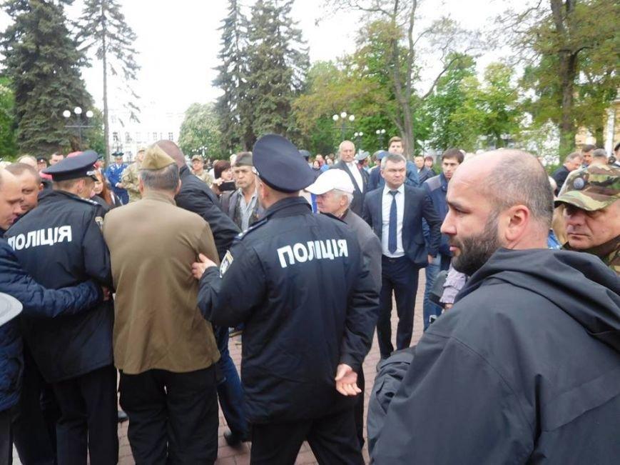Провокаторы с «георгиевской» ленточкой пытались сорвать в Чернигове 9 мая, фото-4