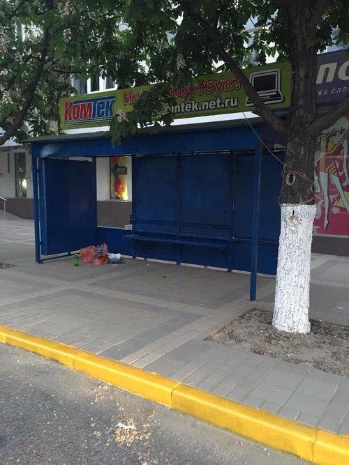Вместо установки новых остановок власти Симферополя решили покрасить старые (ФОТО), фото-4