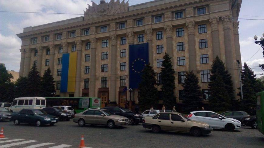 В Харькове торжественно подняли флаг Евросоюза и отметили принятие безвиза (ФОТО), фото-6