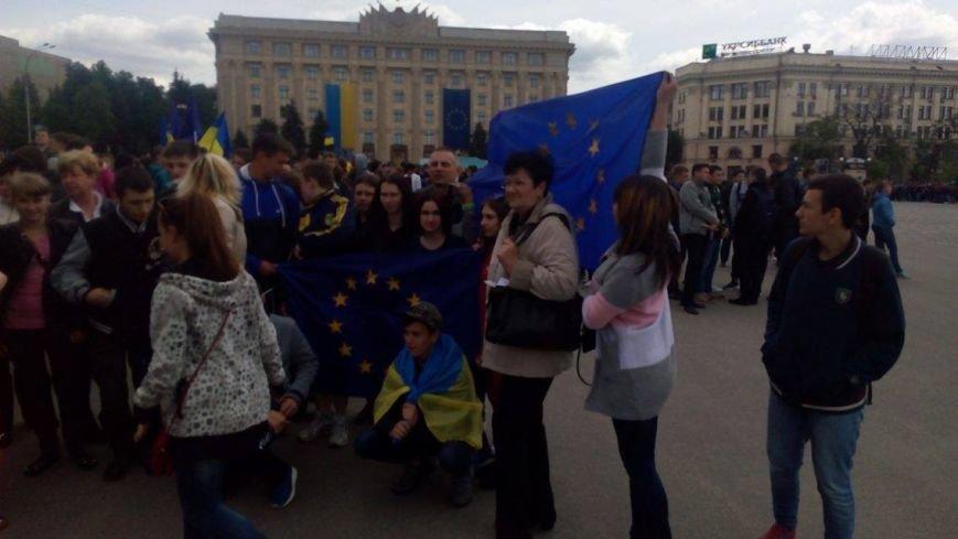 В Харькове торжественно подняли флаг Евросоюза и отметили принятие безвиза (ФОТО), фото-1