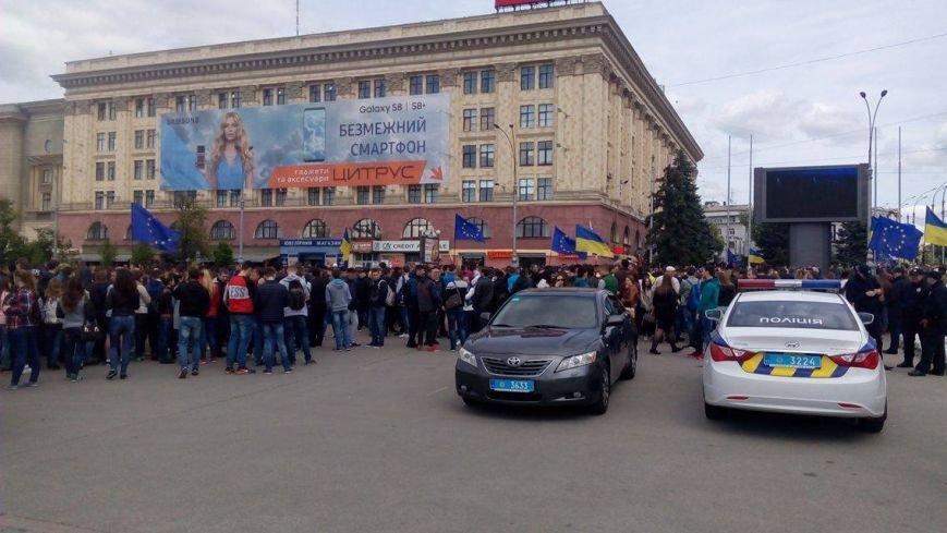 В Харькове торжественно подняли флаг Евросоюза и отметили принятие безвиза (ФОТО), фото-2