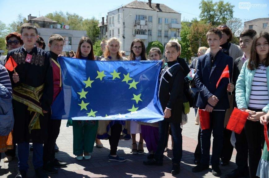 В центре Каменского прозвучал гимн Евросоюза, фото-6