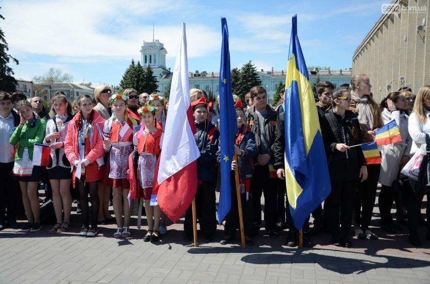 В центре Каменского прозвучал гимн Евросоюза, фото-10