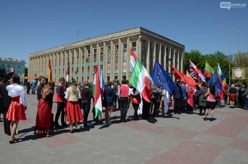 В центре Каменского прозвучал гимн Евросоюза, фото-5