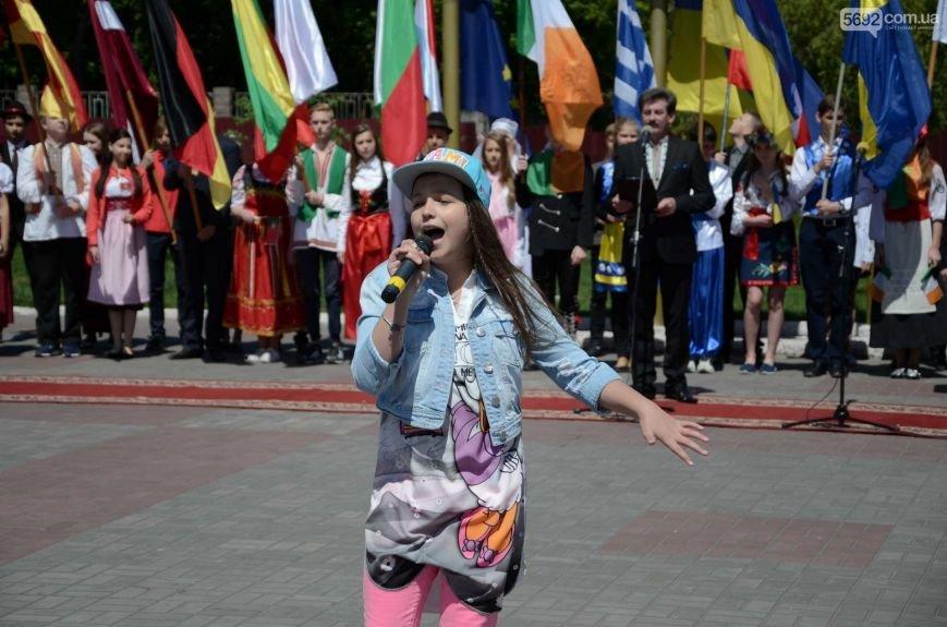 В центре Каменского прозвучал гимн Евросоюза, фото-8