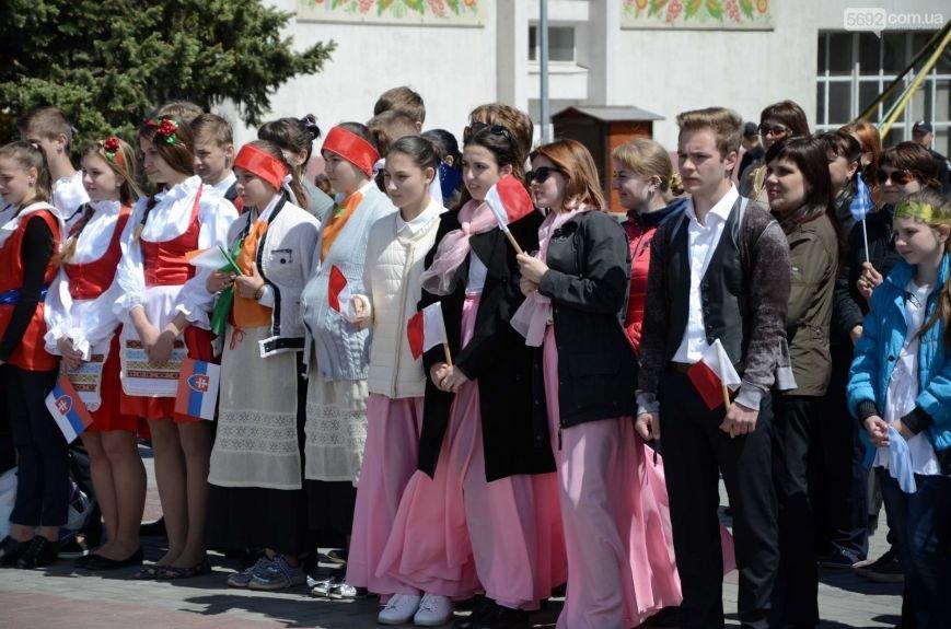 В центре Каменского прозвучал гимн Евросоюза, фото-13