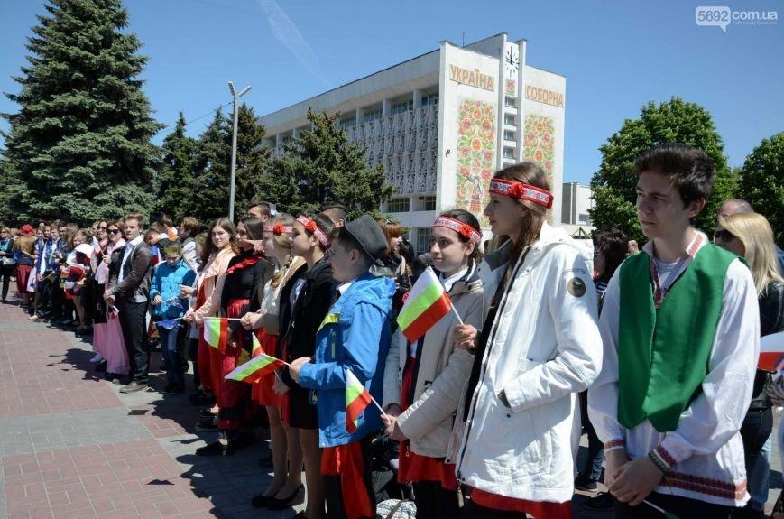 В центре Каменского прозвучал гимн Евросоюза, фото-4
