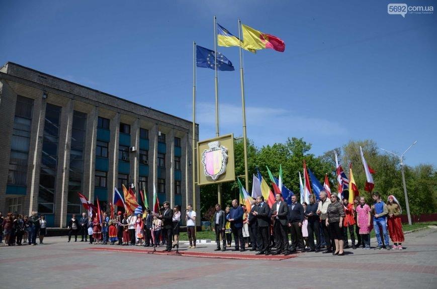 В центре Каменского прозвучал гимн Евросоюза, фото-12
